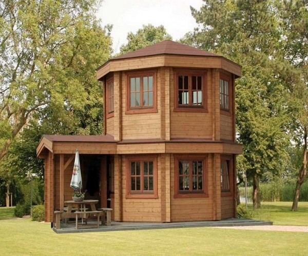 The toulouse pavilion tiny house for Small hot house plans