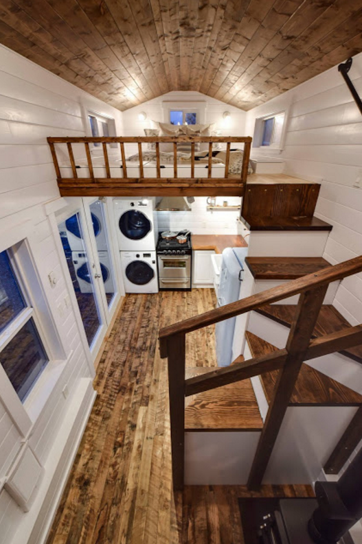 Rustic glamour tiny home by mint tiny house company for Tiny homes company